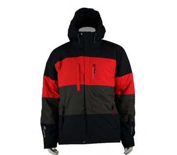 Unisex lyžařská bunda - Black / Red / Grey